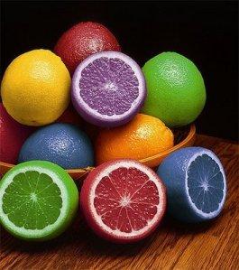 laranjas coloridas